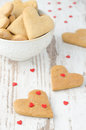 Free Heart Shaped Cookies On The Table And A Bowl Of Cookies Stock Photography - 28818382