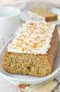 Free Orange Cake With Cream Cheese Frosting Royalty Free Stock Photos - 28818388