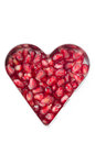 Free Pomegranate Seeds In Heart Shape Isolated Royalty Free Stock Photo - 28818395