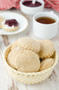 Free Scone Of Whole Wheat In A Wicker Basket Vertical Royalty Free Stock Photo - 28818445