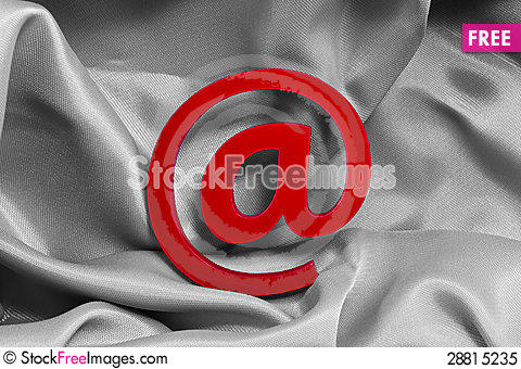 Free Red @ Royalty Free Stock Photo - 28815235