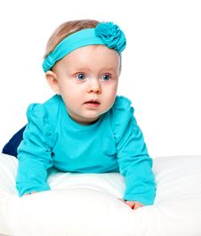 Free Portrait Of A Little Child Lying Stock Image - 28810561