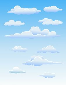 Free Four Cute  Clouds Royalty Free Stock Images - 28813949