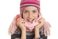 Free Beautiful Young Girl In Warm Winter Clothes Stock Image - 28816171