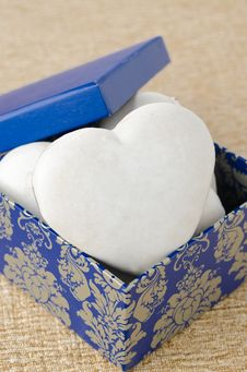 Free Cake With Icing In The Form Of Heart In A Gift Box, Selective Fo Stock Images - 28818324