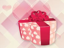 Free Opened Pink Heart Shaped Box Stock Photo - 28818800
