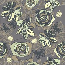 Free Floral Seamless Texture Royalty Free Stock Image - 28819546