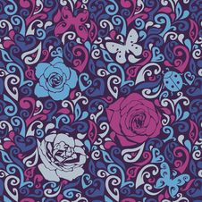 Free Floral Seamless Texture Royalty Free Stock Images - 28819559