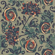 Free Floral Seamless Texture Royalty Free Stock Photo - 28819565