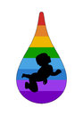 Free Baby In A Rainbow Drop Stock Image - 28826851