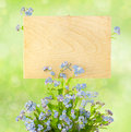 Free Wood Sign With Flowers / Empty Board For Your Text /  On Light-g Stock Photos - 28828703