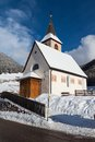 Free A Wintertime View Of A Small Church With A Tall Steeple Stock Photo - 28829230