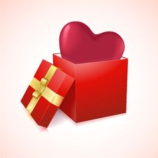 Free Open Box With Heart Vector Illustration Stock Images - 28820354