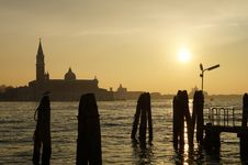 Free Sunset In Venice Stock Images - 28821294