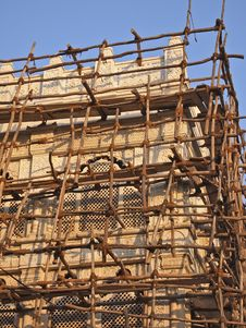 Free Bamboo Scaffold Royalty Free Stock Photo - 28821655