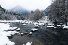Free Mountain Winter Landscape Stock Image - 28822691