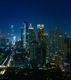 Free Bangkok City Night View Stock Image - 28822761