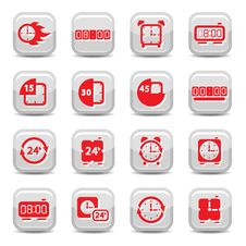 Clock Icons Royalty Free Stock Images