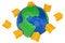 Free Plasticine Globe And Books Royalty Free Stock Image - 28820596