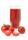 Free Fresh Tomato Juice On White Background Stock Photo - 28831720