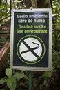 Free Smoke Free Environment Sign In The Forest Royalty Free Stock Photos - 28836868