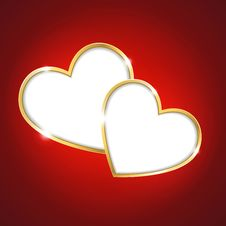 Free Heart On A Red Background Stock Photography - 28830232