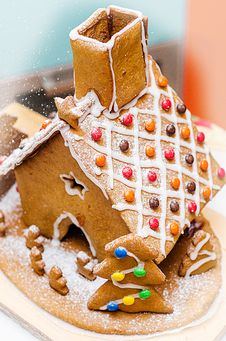 Gingerbread House- Top View Stock Photos