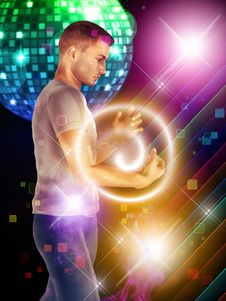 Free Dancing Guy Royalty Free Stock Images - 28837009