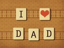 Free Fathers Day Tiles Stock Photos - 28837013