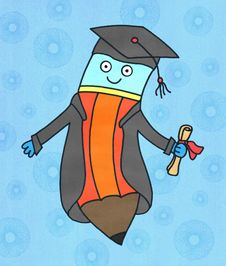 Free A Pencil S Graduation Royalty Free Stock Photos - 28837098