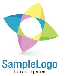 Free Soft Colors Flower Logo Royalty Free Stock Photo - 28838875
