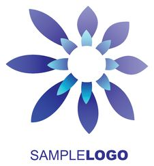 Free Blue Flower Logo Royalty Free Stock Photography - 28838877