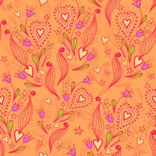 Free Seamless Texture With Flowers Stock Photography - 28839252