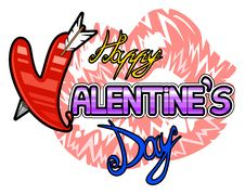 Free Happy Valentines Day Logo Stock Photography - 28839332