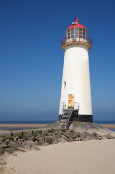 Free Talacre Lighthouse Royalty Free Stock Images - 28839769