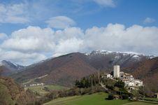 Free Marche Mountain Village Stock Photo - 28839780