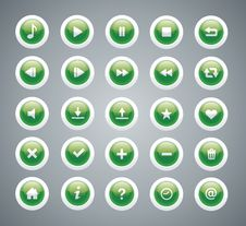 Free Green Glossy Buttons Stock Image - 28839811