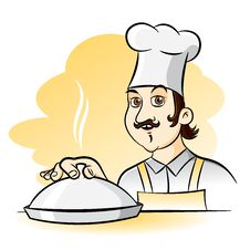 Cheerful Chef Cook Royalty Free Stock Image