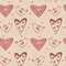 Free Seamless Pattern With Birds And Hearts Stock Image - 28839871