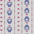 Free Seamless Pattern With Owls And Hearts Royalty Free Stock Photos - 28840038