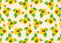 Free Pattern Yellow Pansies Royalty Free Stock Photo - 28841585