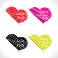 Free Scribble Valentine Hearts Stock Image - 28841611
