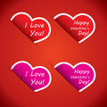 Free Heart Icons - I Love Your And Happy Valentines Day Stock Photos - 28841653