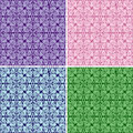 Free Seamless Wallpapers - Set Of Four Colors. Stock Photo - 28842790