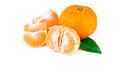 Free Tangerine With Leaf,  On White Background Stock Images - 28847404