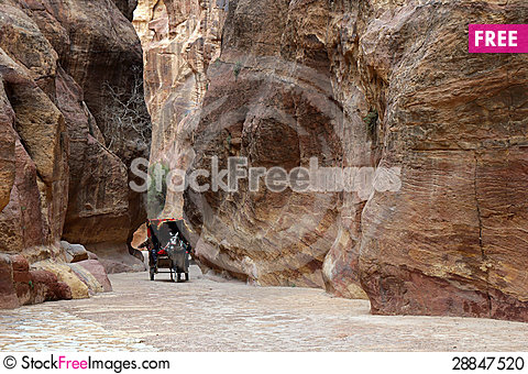 Free Canyon In Petra. Stock Photo - 28847520