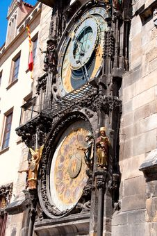 Clock In Prague Stock Photography