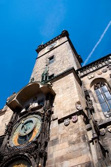 Clock In Prague Royalty Free Stock Images