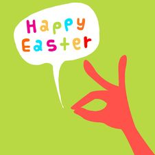 Free Happy Easter Card Royalty Free Stock Images - 28841039
