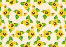 Free Pattern Yellow Pansies Royalty Free Stock Photo - 28841585
